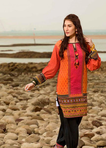 Gul Ahmed Printed Lawn Unstitched Kurties GA18G GS-06 - Festive Collection