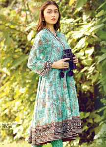 Al Karam Embroidered Cotton Unstitched 1 Piece Suit AK17E 39 Green