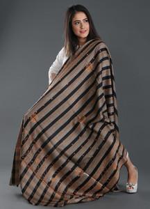 Sanaulla Exclusive Range Embroidered Pashmina Shawl 152 - Kashmiri Shawls