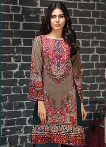 1e339d24299c LimeLight Printed Khaddar Unstitched Kurties LL18-W2 466 Red - Winter  Collection