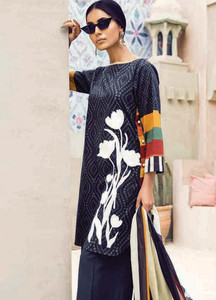 Cross Stitch Embroidered Lawn Unstitched 3 Piece Suit CS18-L2 09 - Spring / Summer Collection