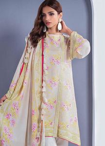 Orient Textile Printed Linen Unstitched 3 Piece Suit OT18W 257B Ocean Wave - Winter Collection
