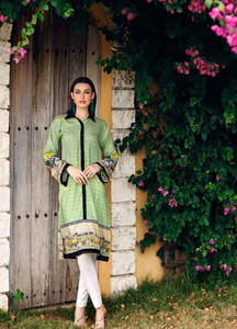 Gul Ahmed Printed Lawn Unstitched Kurties GBC19MFL SL 588 - Spring Summer Collection