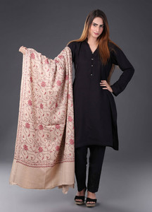 Sanaulla Exclusive Range Pashmina Embroidered Shawl 459 - Kashmiri Shawls