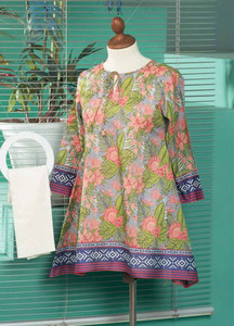 Tarzz Printed Lawn Unstitched Kurties TZ18L 2A - Spring / Summer Collection