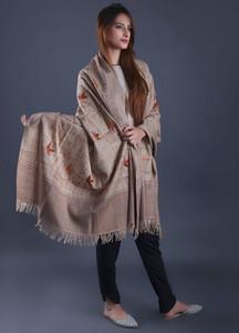 Sanaulla Exclusive Range Textured Pashmina Shawl 54 - Formal Collection