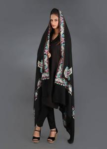 Sanaulla Exclusive Range Pashmina Embroidered Shawl 294 - Kashmiri Shawls