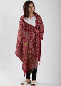 Sanaulla Exclusive Range Textured Pashmina Shawl 77 - Kashmiri Shawls