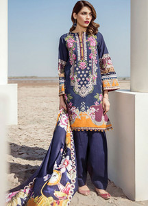 Baroque Embroidered Khaddar Unstitched 3 Piece Suit BQ18K 10 Illustrious Oasis - Luxury Collection