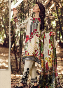 Baroque Embroidered Linen Unstitched 3 Piece Suit FU17W 02