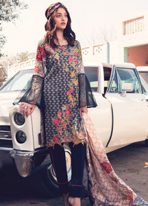 Rang Rasiya Embroidered Lawn Unstitched 3 Piece Suit RU18L 1A - Spring / Summer Collection
