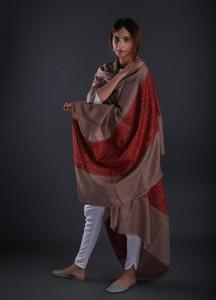 Sanaulla Exclusive Range Embroidered Pashmina Shawl 07 - Formal Collection