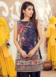 Cross Stitch Embroidered Lawn Unstitched 2 Piece Suit CS18E 14 - Eid Collection