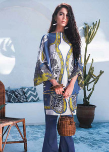 Cross Stitch Embroidered Lawn Unstitched 2 Piece Suit CS19-L2 18 URBAN SPRUCE - Spring / Summer Collection