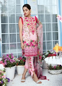 Gulaal Embroidered Lawn Unstitched 3 Piece Suit GL18L2 05 - Spring / Summer Collection