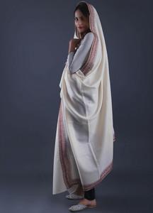 Sanaulla Exclusive Range Pashmina Embroidered Shawl 285 - Kashmiri Shawls