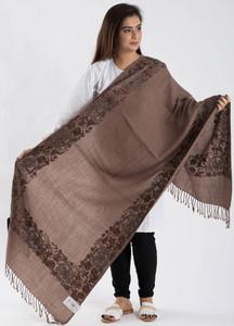 Sanaulla Exclusive Range Textured Pashmina Shawl 75 - Kashmiri Shawls