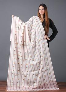 Sanaulla Exclusive Range Pashmina Embroidered Shawl 613 - Kashmiri Shawls