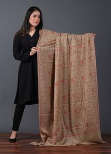 Sanaulla Exclusive Range Pashmina Embroidered Shawl 526 - Kashmiri Shawls