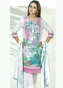 Al Karam Printed Lawn Unstitched 2 Piece Suit AK18-L2 128 PINK - Spring Summer Collection