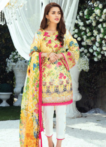 Gulaal Embroidered Lawn Unstitched 3 Piece Suit GL18L 11 - Spring / Summer Collection