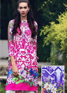 Gul Ahmed Embroidered Linen Unstitched Kurtis Suit GL17W SM9B