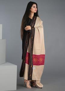 Sanaulla Exclusive Range Embroidered Pashmina Shawl 214 - Kashmiri Shawls