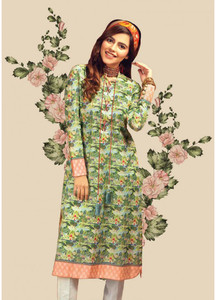 Gul Ahmed Printed Lawn Unstitched Kurties GAB19L SL-652 - Spring / Summer Collection