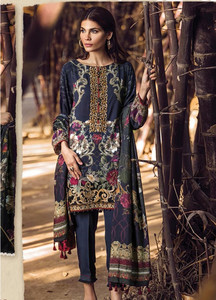Baroque Embroidered Linen Unstitched 3 Piece Suit FU17W 01