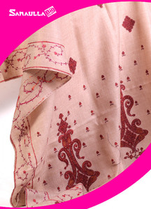 Fawn Embroidered Pashmina Shawls for ladies - SW 207