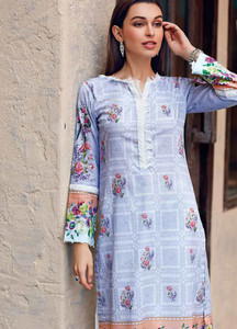 Gul Ahmed Printed Lawn Unstitched Kurties GBC19MFL SL 608 - Spring Summer Collection
