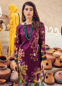 Cross Stitch Embroidered Lawn Unstitched 2 Piece Suit CS18E 15 - Eid Collection