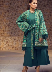 Al Karam Printed Lawn Unstitched Kurties AK19L SS-69-19 Green - Spring / Summer Collection