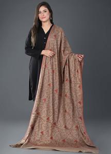 Sanaulla Exclusive Range Pashmina Embroidered Shawl 391 - Kashmiri Shawls