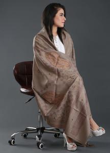 Sanaulla Exclusive Range Embroidered Pashmina Shawl 169 - Kashmiri Shawls
