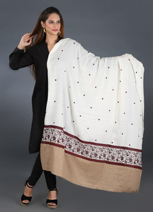 Sanaulla Exclusive Range Pashmina Embroidered Shawl 299 - Kashmiri Shawls