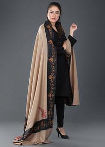 Sanaulla Exclusive Range Pashmina Embroidered Shawl 377 - Kashmiri Shawls