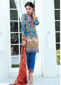 Gulaal Embroidered Lawn Unstitched 3 Piece Suit GL18L 05 - Spring / Summer Collection
