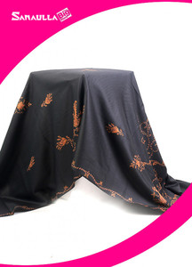 Black Embroidered Pashmina Shawls for ladies - SW 240
