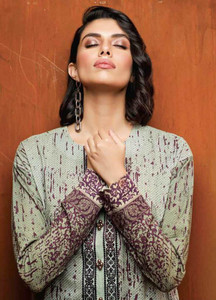 Al Karam Embroidered Khaddar Unstitched 2 Piece Suit AK18W FW 63.1 PURPLE - Winter Fashion