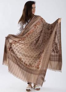 Sanaulla Exclusive Range Pashmina Embroidered Shawl 279 - Kashmiri Shawls