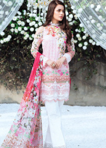 Gulaal Embroidered Lawn Unstitched 3 Piece Suit GL18L 08 - Spring / Summer Collection