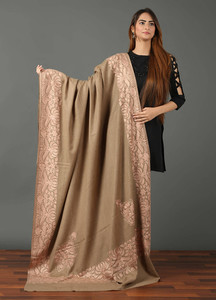 Sanaulla Exclusive Range Pashmina Embroidered Shawl 475 - Kashmiri Shawls