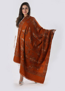 Sanaulla Exclusive Range Embroidered Pashmina Shawl 109 - Kashmiri Shawls