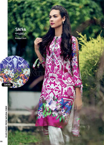 Gul Ahmed Embroidered Linen Unstitched Kurtis Suit GL17W SM9A