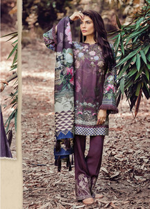 Baroque Embroidered Linen Unstitched 3 Piece Suit FU17W 05
