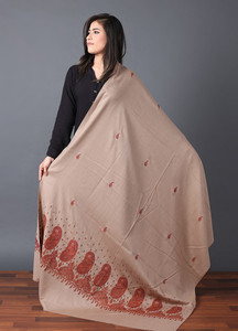 Sanaulla Exclusive Range Pashmina Embroidered Shawl 559 - Kashmiri Shawls