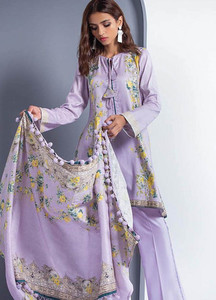 Orient Textile Printed Linen Unstitched 3 Piece Suit OT18W 263B Pearl Ivory - Winter Collection