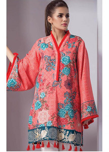Orient Textile Embroidered Cotton Cotel Unstitched Kurties OT18W 216A Ottoman - Winter Collection