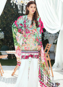 Gulaal Embroidered Lawn Unstitched 3 Piece Suit GL18L 07 - Spring / Summer Collection